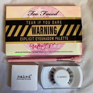 BRAND NEW unused eyeshadow and eyelash bundle.